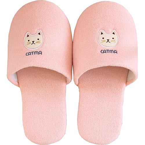 オカ(OKA) スリッパ ピンク 足のサイズ 約25cm キャットマ6 (ネコ 猫)