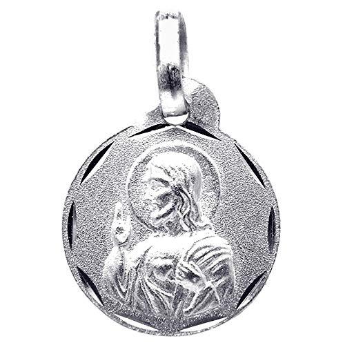 Medalla plata Ley 925m escapulario 13mm. Virgen del Carmen [8235]