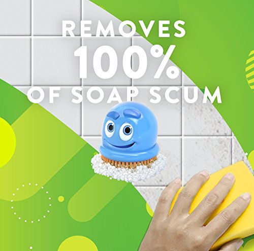 Scrubbing Bubbles Bathroom Cleaner, Grime Fighter and Disinfectant Aerosol Spray, Multi-Surface, Removes 100% Soap Scum, Rainshower Scent, 20 oz