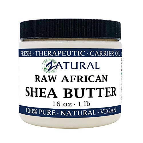 Raw Shea Butter-100% Pure, Virgin, Unrefined, Raw Ivory Shea Butter from Zatural (16 Ounce)