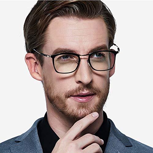 Gafas Para Hombre De Lectura,hd Peso Ligero Lectores De Sol Con Caja De Vidrios Negro Zoom Inteligente Fotocromismo-a +1.5