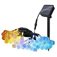 LEDソーラーランプIP65防水太陽水滴ライト弦8フラッシュモード弦照明センサーホーム屋外ガーデンフェンス窓のパーティーUSB再充電可能,Multi