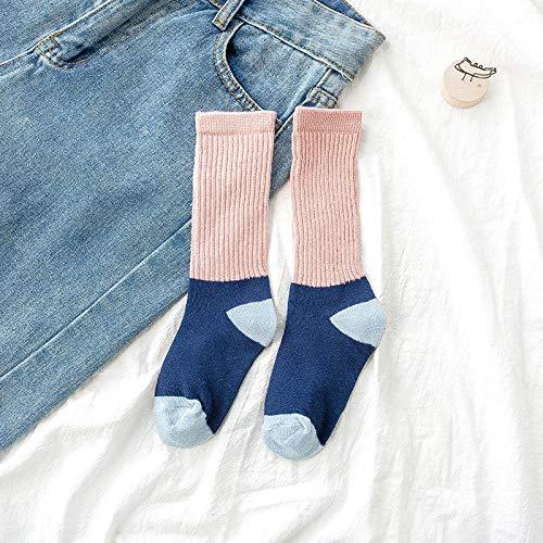 Ykun Kinder Socken, Zuckerwatte Farbe Herbst und Winter Kinder Gezeiten Socken, ausländische Kindermode Socken@A04_L