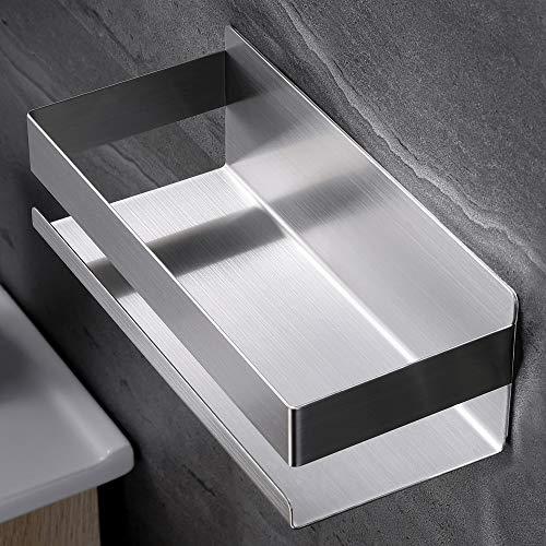 Taozun Duschablage ohne Bohren, Duschregal Selbstklebend Duschkorb für Badezimmer und Küche, Edelstahl Gebürstet