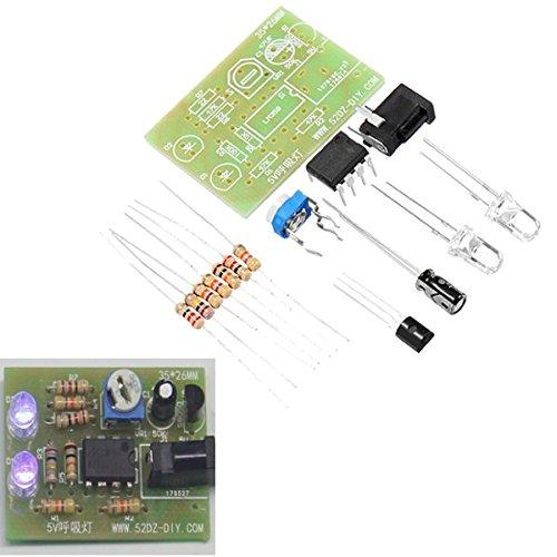ILS - 5V Atem licht kits DIY blauwe lamp knippert elektronische sets LED 5mm