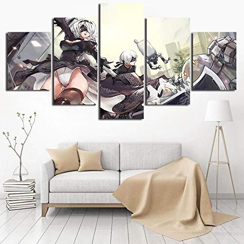 13Tdfc Murale Quadro Poltrone Salotto Cucina Mobili Ufficio Casa Decorazione XXL Regalo Creativo Automata Game Stampa su Tela 5 Pezzi per Decorazione da Parete 150X80Cm