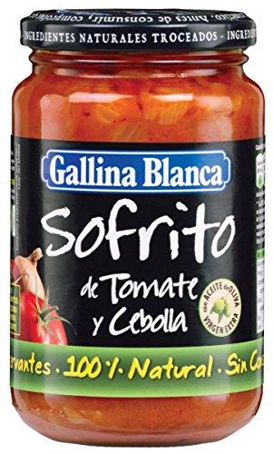 GALLINA BLANCA sofrito tomate y cebolla frasco 350GR