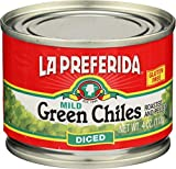 La Preferida Mild Green Chilies, Diced, 4 Ounce