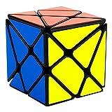 EASEHOME Pescado Speed Magic Puzzle Cube, FishRompecabezas Cubo Mágico PVC Pegatina para Niños y Adultos, Negro