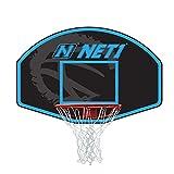 NET1 Vertical 76 x 50 cm Backboard & Goal Sistema de Baloncesto, Unisex Adulto, Azul, Estándar