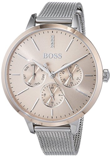 Hugo Boss Unisex Multi Zifferblatt Quarz Uhr mit Edelstahl Armband 1502423