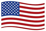 Flexible Magnets Wavy American Flag Car Magnet - 3.5 X 5.75 - Weather and UV Resistant from