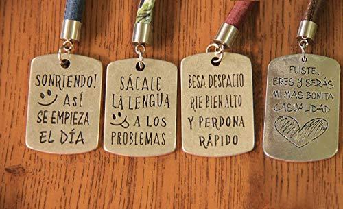 LLAVERO FRASES ESPECIALES | CUATRO TRES FRASES | NUEVE ESTILOS |
