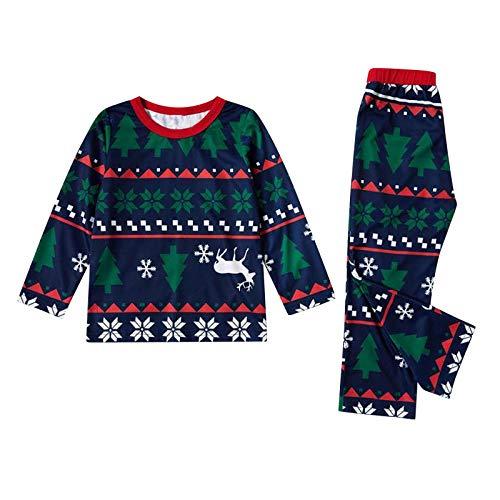 Aniywn Family Matching Xmas Pajamas Set Parent-Child Fun Holiday Christmas Sleepwear Nightwear