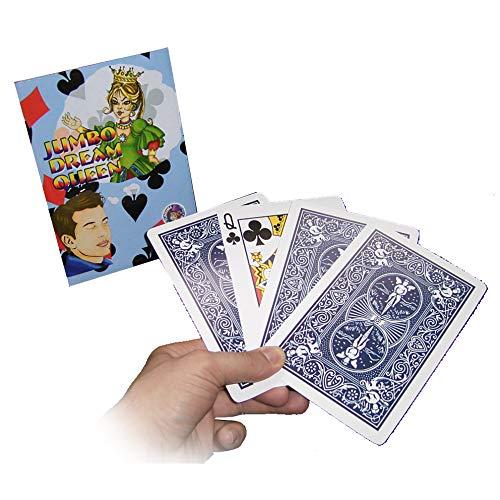 ProTriXX Jumbo Dream Queen Zaubertrick, Mental-Magie Trick im Großformat, 1 Kuvert - 4 Karten - 2 treffsichere Vorhersagen, Gedanken-Manipulation, Magic Zaubertricks und Zauberartikel