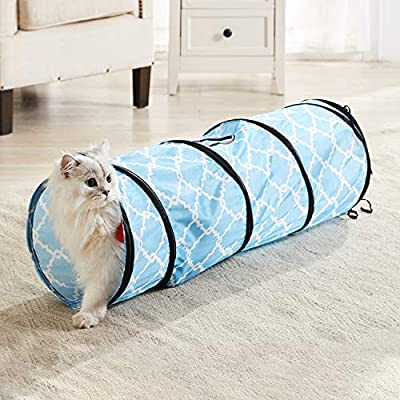 WESTERN HOME WH Cat Tunnels Tube Cat Toys, Cat Tunnel Bed Pop-up Collapsible Pet Tube Interactive Play Toy with Ball, Cat Tunnels for Indoor Cats,Great Toy for Cats & Rabbit by WESTERN HOME WH
