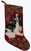 EC Cavalier King Charles Christmas Stocking Tri Color 100% Wool Hand-Stiched Needlpoint: Precious