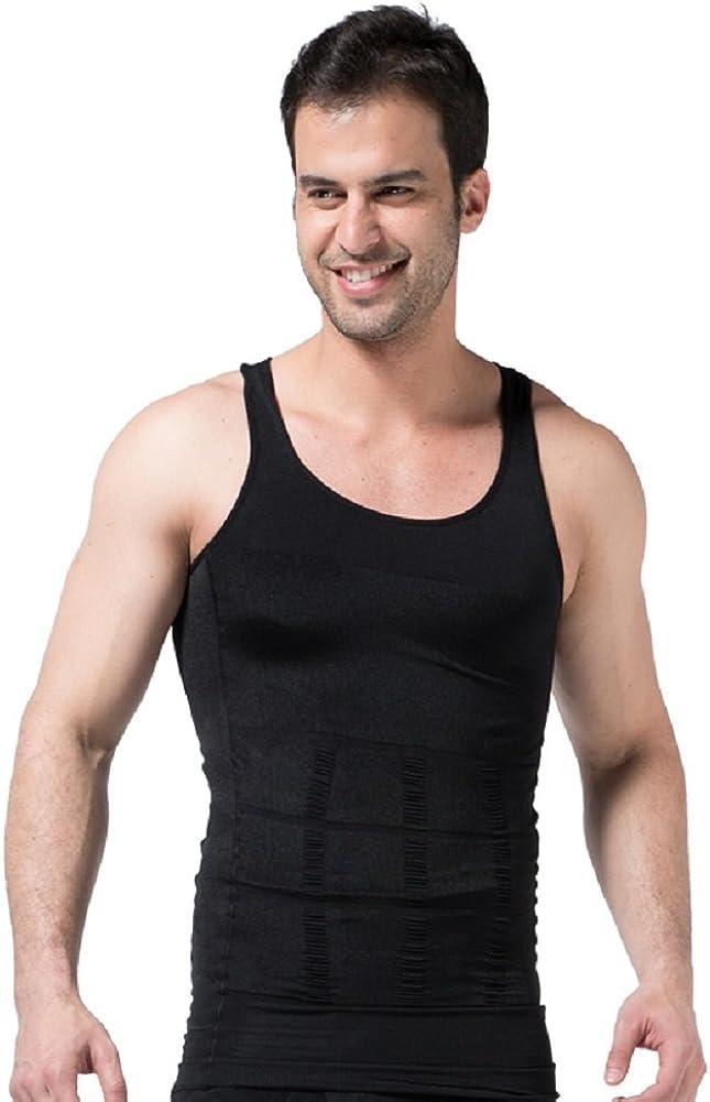 Ducomi ZEROBODYS Incredible Series - Camiseta Moldeadora Reductora de Efecto Adelgazante para Hombre - Hace la Zona Abdominal más Fina y Tónica