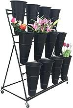 ZRX-Flower Rack Retro Decken-Art Blumen-Stand-Eisen-Kunst-Wand-H/ängendes Wand-Regal verschobene Decken-Speicher-Gestell-Innenbalkon-dekoratives Blumen-Gestell Gr/ö/ße : 60/×25/×15cm