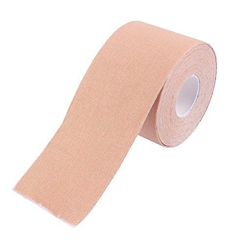 Demarkt Sport Tape Physio Tape Kinesiologie Tape elastische Klebeband Bandage für Physiotherapie Sport Freizeit und Medizin 5cmx5m Hautfarbe