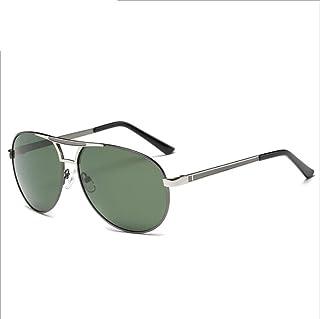 SUNHAO - SUNHAO Hombre Gafas De Sol Conducción polarizada Gafas Deportivas Pesca Golf Gafas Protección Estilo de Moda Marco de Metal Ultra Ligero Aviador Espejo Retro