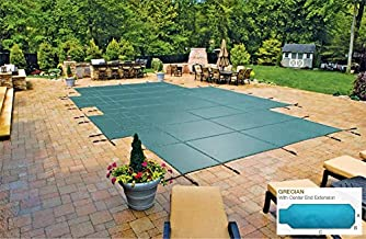 LoopLoc Mesh Cover for 16'6 x 32'6 Grecian Pool with 4' x 8' Center Extension