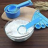 Cuchara medidora 11pcs / set tazas de medir y cucharas de plástico apilables Conjunto Combinación taza de medición Herramientas Accesorios de Cocina (Color : Color Random)