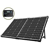 100W 折畳式 高発電効率 太陽光発電 多結晶ソーラーパネル チャージーコントローラー付き 携帯便利 RV・キャンピングに最適