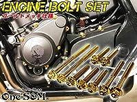 Z22-19 CB400SF Hyper Vtec SPECII SPECIII NC39 専用 エンジン ボルト ゴールドカラー 25本set フランジボルト クラッチカバー ジェネレーターカバー スターターカバー シリンダーヘッドカバー パルシングカバー クランクケースカバー