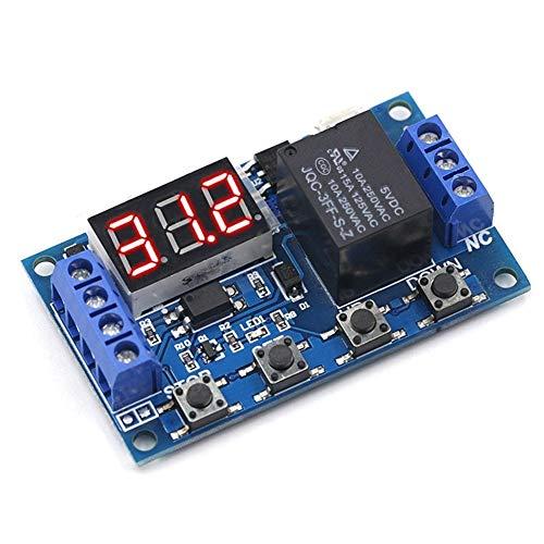 XYHHStor Relé DC 6-30V Apoyo a Las Micro USB Pantalla LED 5V automatización del Ciclo de retardo a la conexión de Control de Apagado Tiempo de retardo del relé 6V 9V 12V 24V Relé electrónico,