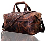 Leaderachi Leather Travel Duffel Bags, Men And women Carry on Bag Leather Weekend Bag Sports Gym duffel Cabin Holdall bag