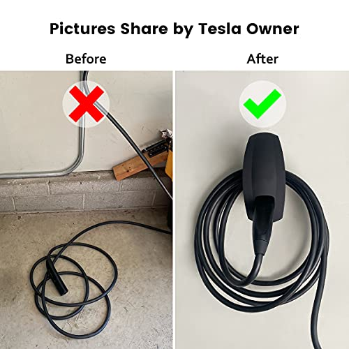 TAPTES Charger Wall Holder Mount/Cable Organizer for All Tesla Motors, Wall Connector Adapter for Telsa Model 3 Model Y Model S moedel X Accessories