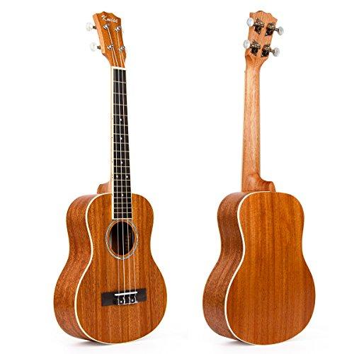 Kmise Matt Mahogany Top&Back&Side Tenor Ukulele 26 inch Hawaii Guitar Rosewood Bridge With Aquila Strings (Ukulele-A8)
