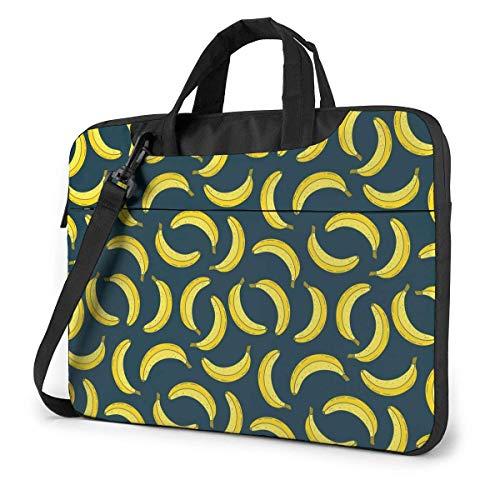Adults Student Laptop Bag Protective Notebook Computer Protective Cover Handbag Vintage Fruit Yellow Banana Spinning