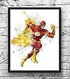 xmydeshoop Aquarell Superheld druckt Leinwand Malerei Iron