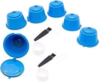 LOVIVER Tasse de Filtre de de Café Rechargeable et Réutilisable Domestique pour Machine à Café, de Dosette de Café avec Fo...