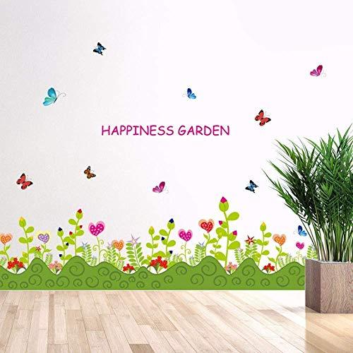 Wandaufkleber, DIY Pflanze Wanddekoration Aufkleber Blumen Wohnzimmer Kleiderschrank Fenster Innenausstattung