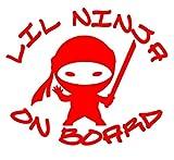 UR Impressions - Adhesivo de vinilo con diseño de ninja de Lil Ninja,...