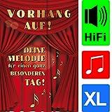 bentino Geburtstagskarte XL mit Musik, DIN A4 Set mit Umschlag, spielt klassische Musik, Sound in toller HiFi Qualität, hochwertige Glückwunschkarte, Grußkarte aus der Serie'Great Cards'