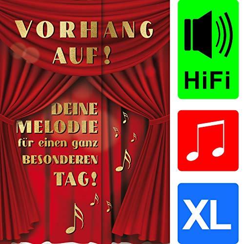 bentino Geburtstagskarte XL mit Musik, DIN A4 Set mit Umschlag, spielt klassische Musik, Sound in toller HiFi Qualität, hochwertige Glückwunschkarte, Grußkarte aus der Serie