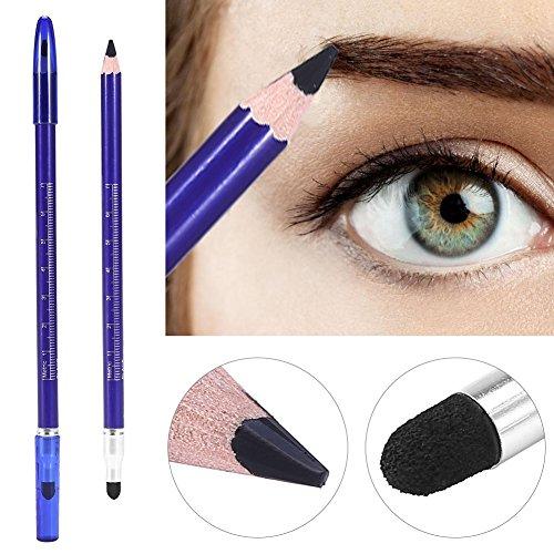 Crayon semi-permanent pour sourcils à double tête - Pour tatouages, microblading, maquillage Noir