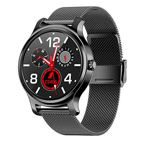 ZYD Schöne Legierung Smart Watch 2020 IPS volle Runde Bildschirm Bluetooth Anruf IP67 Gesundheit Bewegung Pedometer für Frauen Männer smartwatches,B