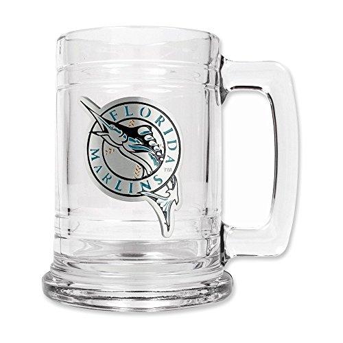 Florida Marlins MLB 2pc Rocks Glass Set - Primary Logo
