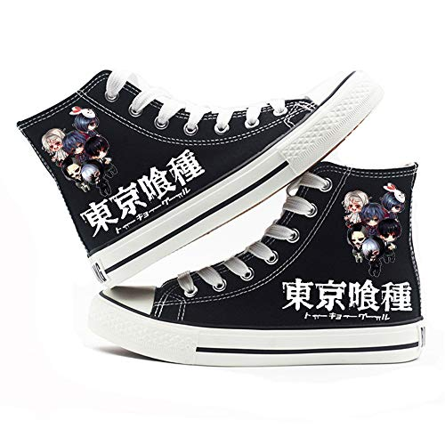 NLJ-lug Tokyo Ghoul Anime Shoes Cosplay Shoes Sneakers Black/White