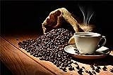YANCONG Puzles Adulto De 500 Piezas, Café Aromatizado, Granos De Café En Grano Puzzle 52X38Cm