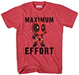 Marvel Deadpool Chibi Maxiumum Effort Men's T-shirt (XXL, Heather Red)