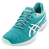 ASICS Women's Solution Speed FF Tennis Shoes, 6.5M, Techno Cyan/White