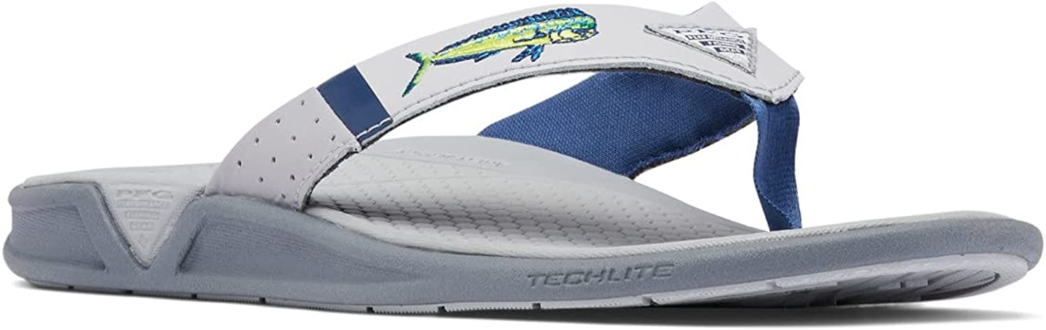 Columbia Men's PFG Fish Max 76% OFF Flip Molded Wet-Traction Insole Sandal Directly managed store