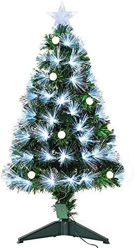 3ft White Light Artificial Christmas Tree w/90 LEDs Star Topper Tri-Base Full Bodied Seasonal Decoration Pre-Lit Home