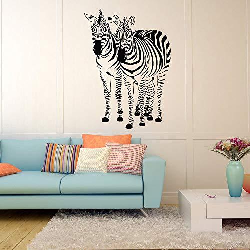 JXWR Zebra Cavallo parete animale Decalcomania del vinile adesivo Naturale Kamera dei Bambini decorazione Della casa arte murale soggiorno Carta da parati 42x57 cm